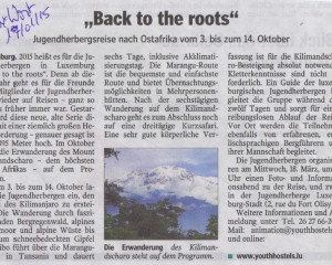 Back to the roots (Luxemburger Wort)