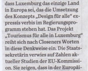 Tourismus für alle in Luxemburg (Journal)