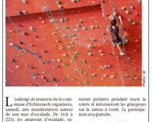 Anzeige Nightclimbing (Le Quotidien)