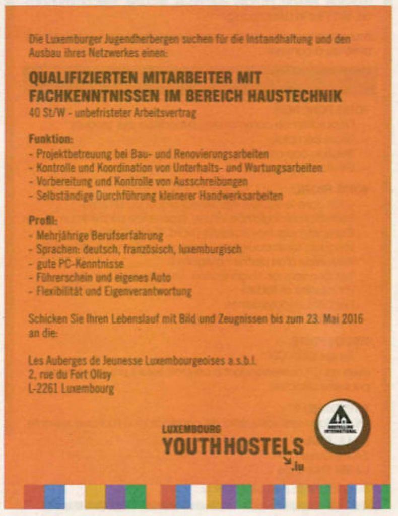 Jobfinder (Luxemburger Wort) ...