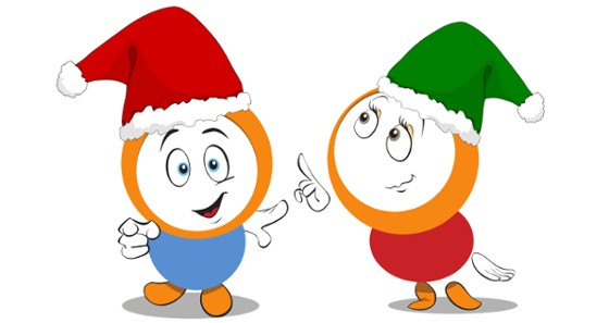 Seasons greetings from our mascots.
