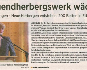 Jugendherbergswerk wächst (Journal)
