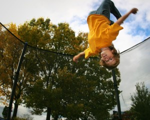 Stockfoto Trampolin Flyer