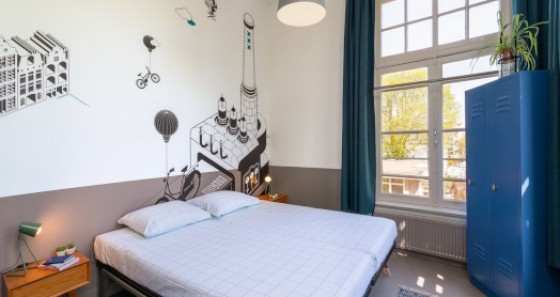 This modern hostel offers 539 beds divided in 2-, 4- and 6-bedded rooms with an ensuite-bathroom.