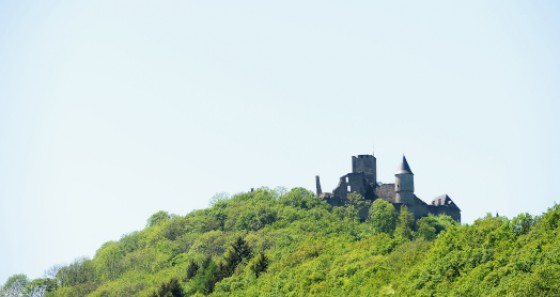 Bourscheid castle has a triangular shape and was classified as 'historical monument' in 1936 (Copyright: Jonathan Godin / LFT)