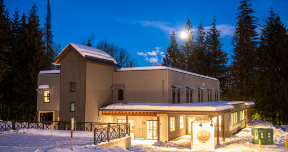 This Canadian hostel was named after a legendary technical ski run on the mountain.